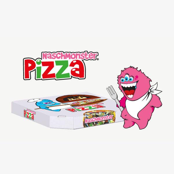 Pizza Verpackung Naschmonster
